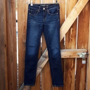 American eagle skinny jeans darkwash sz 2 regular